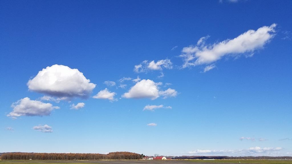 北海道帯広の澄んだ青空