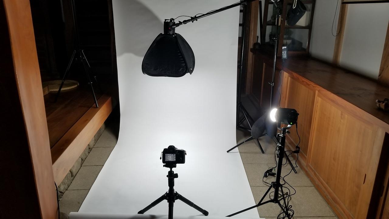 商品写真撮影用の簡易スタジオセット