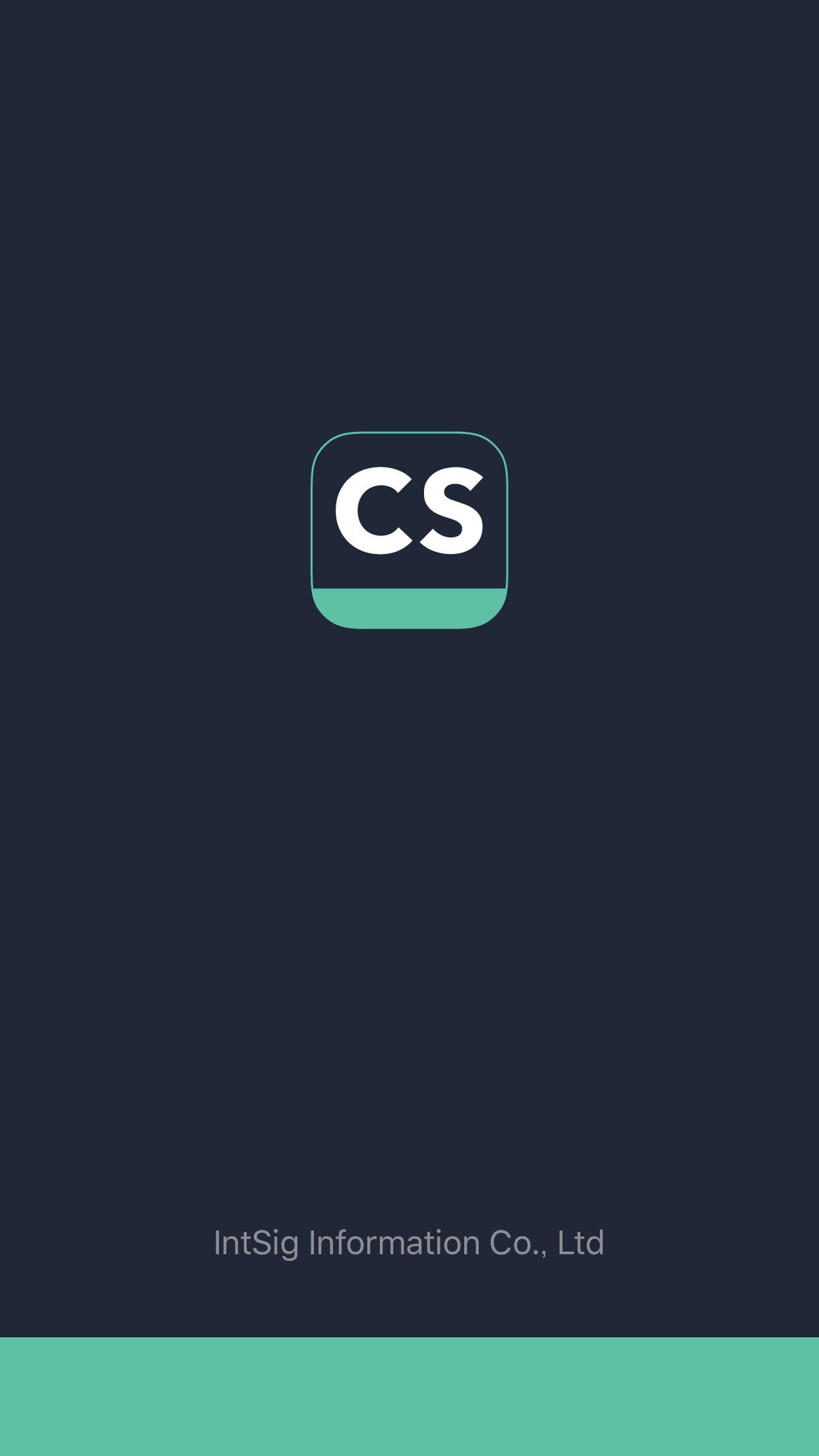 CamScannerの起動画面