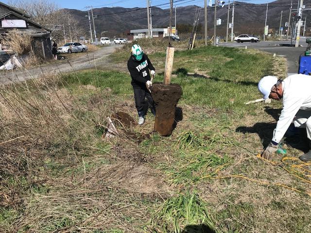 茨城県石岡市にある観光案内看板撤去を致しました。