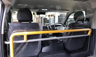 茨城県阿見町の公用車にラッピング・アクリルパーテーションを取り付けました。